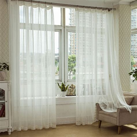 choice white curtains for living room home decorations