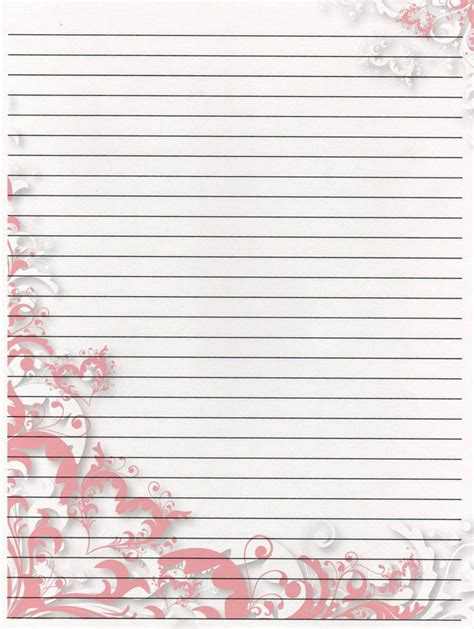 printable writing paper  aimee valentine art