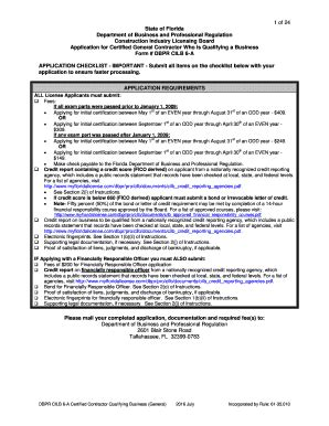 Is health insurance required in florida? 2016-2021 Form FL DBPR CILB 6-A Fill Online, Printable, Fillable, Blank - pdfFiller