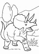 Dinosaur Coloring Printable Triceratops Colouring Sheets Angry Dinosaurs Simple Drawing Worksheet Kid Flower sketch template