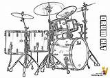 Drum Coloring Drums Musical Kit Pages Percussion Pearl Majestic Template Yescoloring Instrument Snare Templates Sketch sketch template