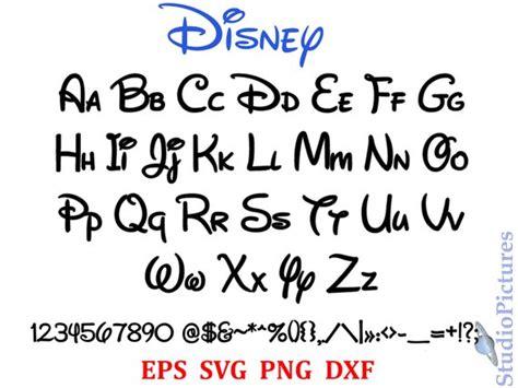 Walt Disney Font Svg Font Svg Alphabet Svg Dxf Png