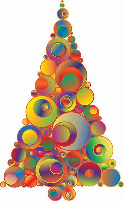 Tree Clipart Rainbow Colorful Triangle Ornament Abstract