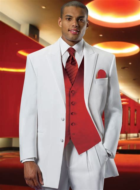 white dress red vest  groom  buttons side seam thin