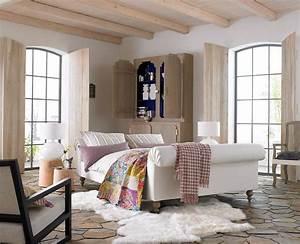 schlafzimmer im landhaus look schoner wohnen With französischer balkon mit wohnen und garten landhaus