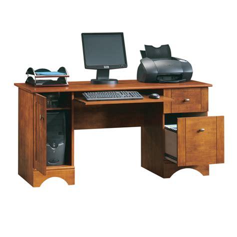 shop sauder brushed maple computer desk at lowes com