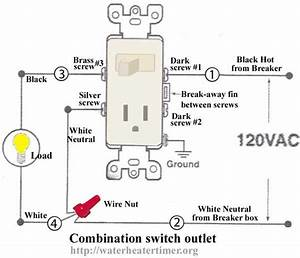 how to wire switches combination switch outlet light With home outlet wiring