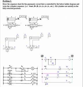 Draw The Sequence Chart For This Pneumatic Circuit