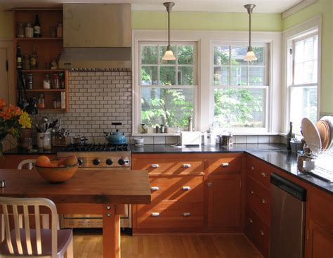 Microhouse fremont cottage   reclaimed fir cabinets