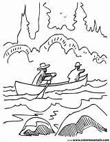Coloring Canoe Stream Pages Sream Printable Print Getcolorings Template 58kb 1800 sketch template