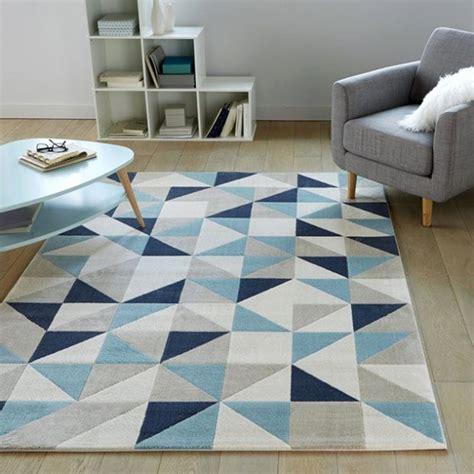 tapis salon bleu canard genial tapis poil ras excellent