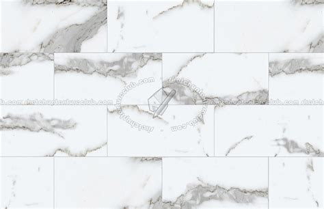 Statuary white marble floor tile texture seamless 14814
