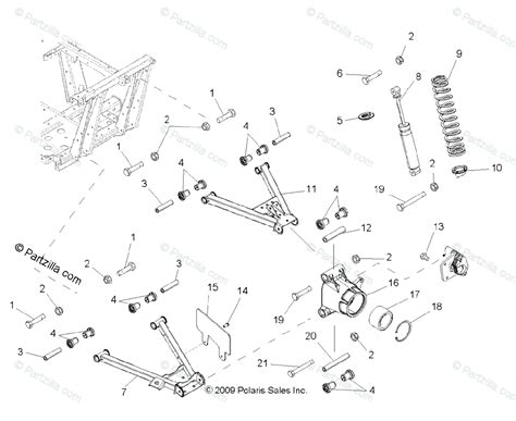 polaris side by side 2011 oem parts diagram for suspension rear all options partzilla com
