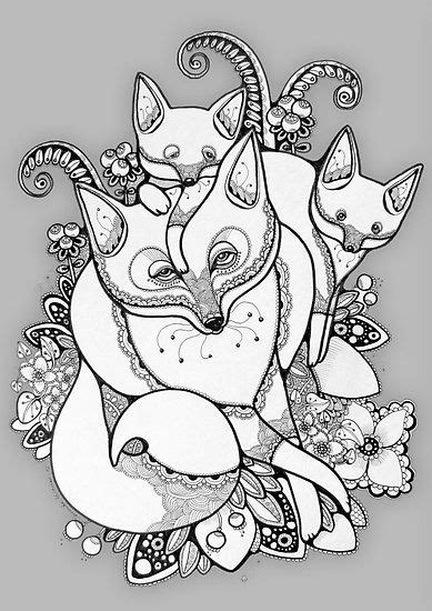 Good concept for tattoo - I'd want the mumma fox to look like my main design, but throw in six