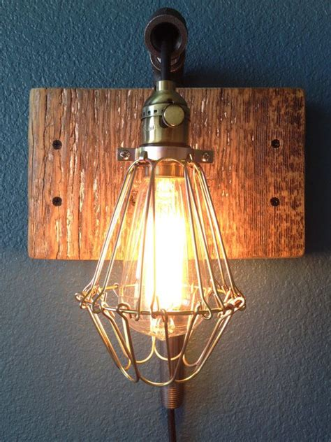 reclaimed barn wood light fixture