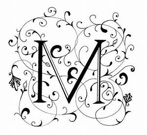Fancy Letter M, decorated letter by Peggy Markham ...