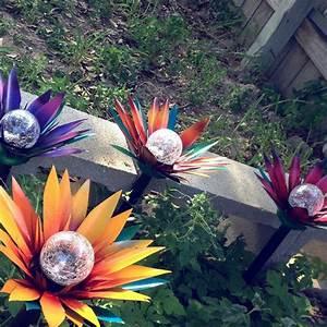 Diy Stakes For Christmas Lights Solar Light Flowers Garden Stakes Garden Decor Flower
