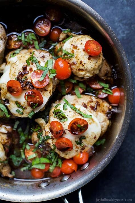 balsamic glazed caprese chicken easy healthy recipes using real ingredients