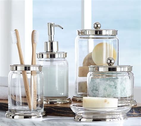 Pottery Barn Sea Glass Bathroom Accessories by How To Organize Your Bathroom