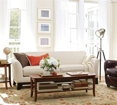 Loveseat Pottery Barn by Greenwich Upholstered Sofa Pottery Barn