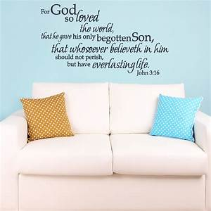 john 316 for god so loved the world wall decal kjv With awesome kjv wall decals