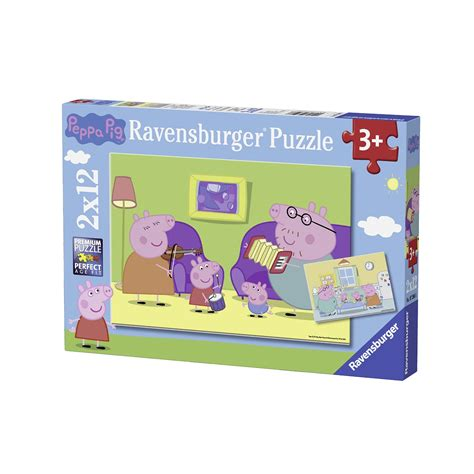 tappeto puzzle peppa pig 2 puzzles peppa pig 12 teile ravensburger puzzle