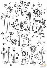 Teacher Coloring Thank Teachers Appreciation Printable Doodle Week Gifts Supercoloring Template Certificate Nature Cards Happy Crafts Quotes Printables Drawing Templates sketch template