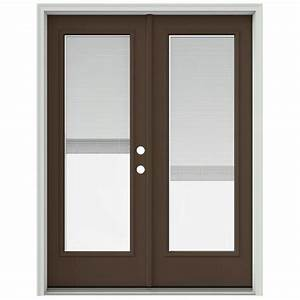 jeld wen 60 in x 80 in dark chocolate prehung left hand With 60x80 french doors