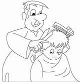 Barber Coloring Outline Colouring Clipart Helper Printable Helpers King Nurse Webstockreview Julian Rehwoldt Bell Draw Transparent sketch template