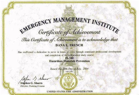 emergency management institute hazardous materials