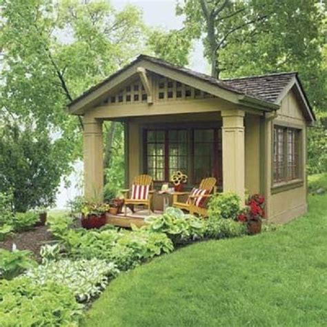 tool shed turned into a guest house outdoor living