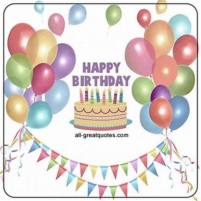 Birthday Animated Happy Card Cards Cake Balloons