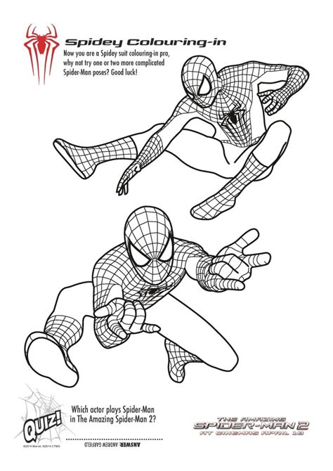 printable spiderman colouring pages  activity