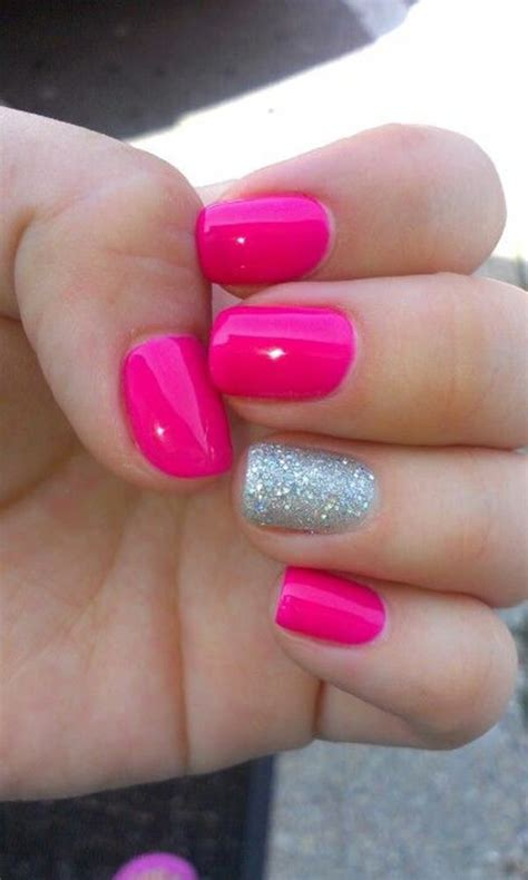 60 Glitter Nail Art Designs Art And Design 67 Innocently Sexy Pink Nail Designs Photos