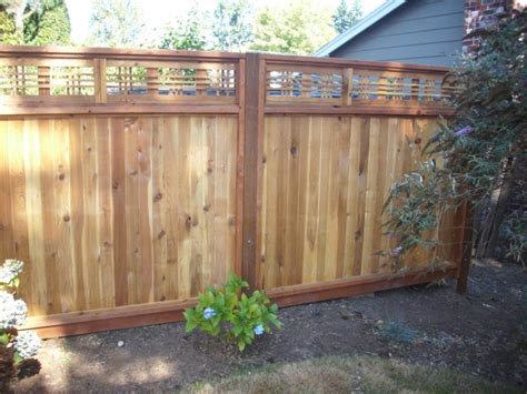 japanese fence japanese lattice top fence deck masters llc portland or
