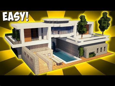how to build a house minecraft how to build a large modern house tutorial