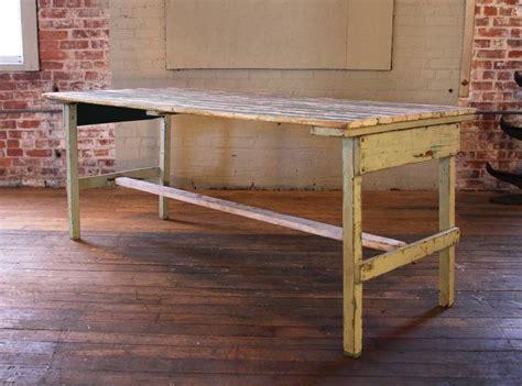 vintage rustic farm distressed folding dining work table