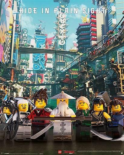 Ninjago Lego Movie Poster Sight Plain Hide
