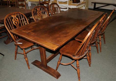 kitchen tables furniture oak refectory table kitchen dining furniture trestle tables