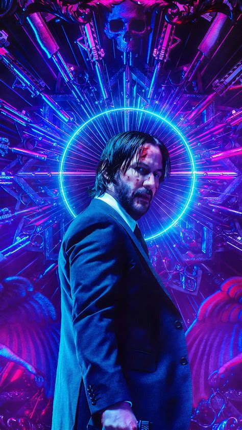 4k Neon Wallpaper Mobile by Keanu Reeves Neon Wick Chapter 3 Parabellum