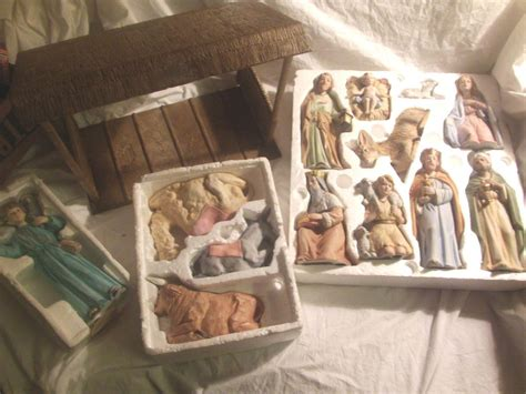 home interiors ebay vintage home interiors homco nativity set w manger