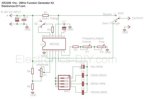hz mhz function generator  xr schematic