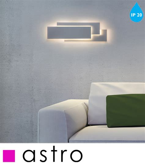 astro edge 560 300k led wall light with driver white