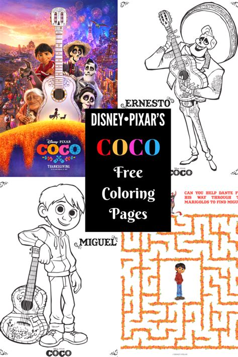 printable coloring pages  disney pixars coco clever housewife