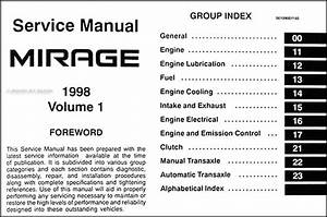 1998 Mitsubishi Mirage Repair Shop Manual Set Original