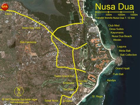 map nusa dua