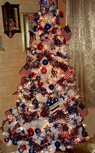 red white and blue christmas tree decorations - Red White And Blue Christmas Tree