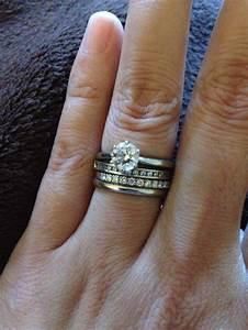 stacked diamond wedding bands jewellry pinterest With stacked diamond wedding rings
