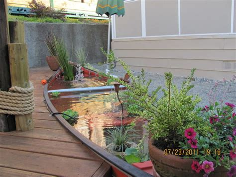 create  nautical landscape theme   canoe pond