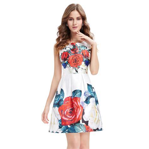 Ever Pretty Summer Dress For Girls Floral Print Short